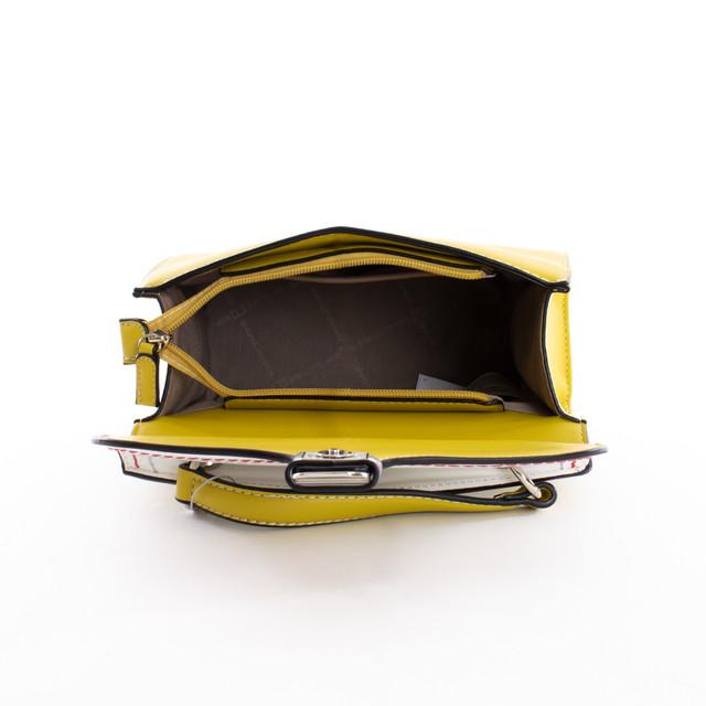 Kabelka - satchel do ruky na cvok DJ, žltá