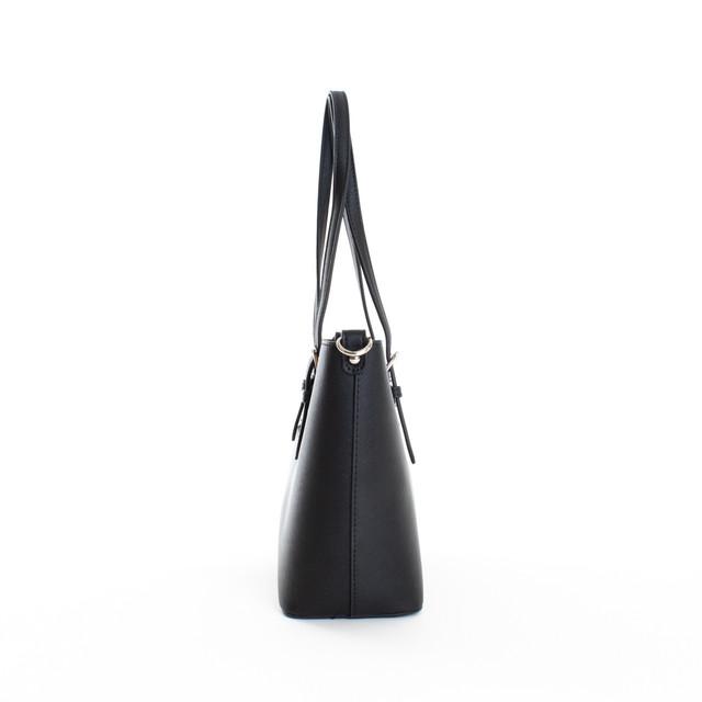 Kabelka - Flora stredná na rameno elegantná, čierna