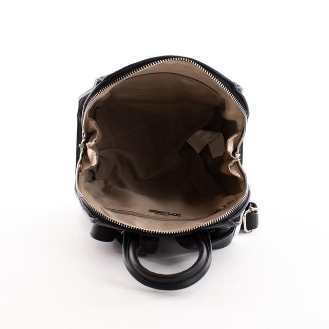 Batoh - eko kožený hladký dámsky DJ, čierny