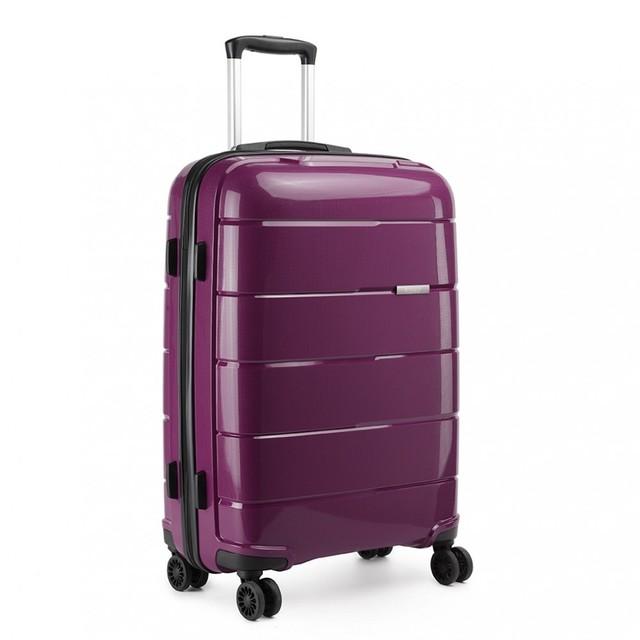 Kufor - cestovný KONO unisex PP lesklý veľký, fialový