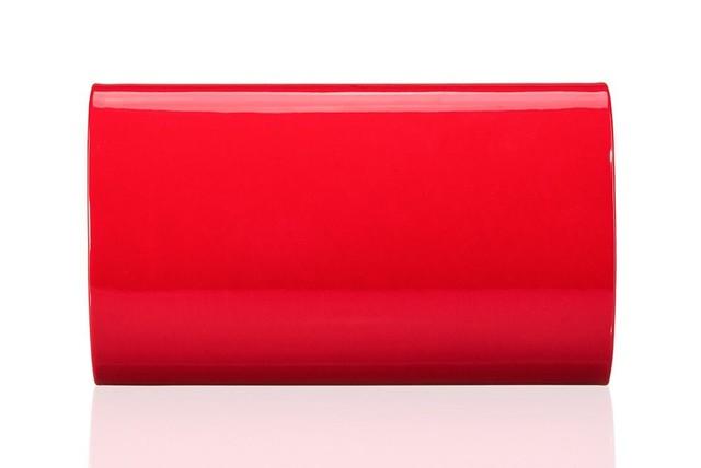 Kabelka - lesklá Felice flap spoločenská, červená