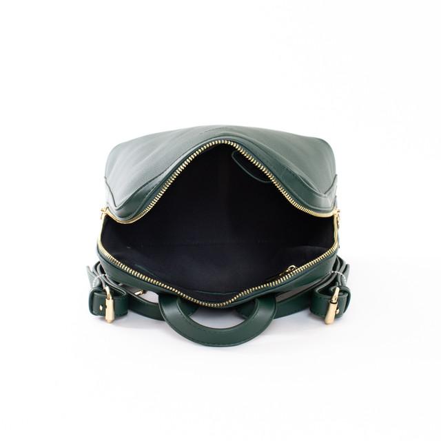 Batoh - zipsový štýlový Diana z eko kože, zelený
