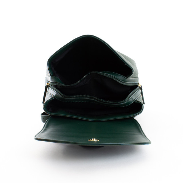 Batoh - Diana štýlový s doplnkami na cvok, zelený
