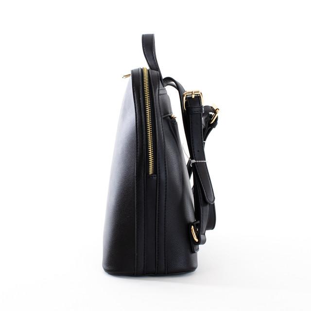 Batoh - zipsový štýlový Diana z eko kože, čierny