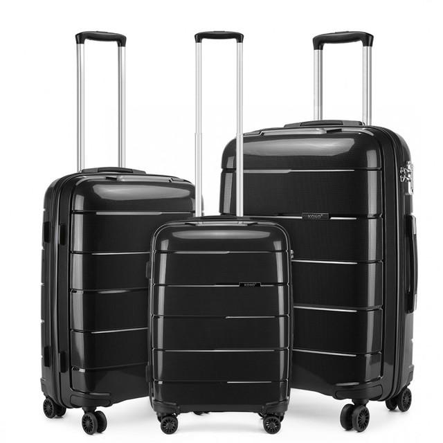 Set kufrov - unisex PP lesklý KONO na cesty, čierny