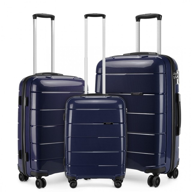 Set kufrov - unisex PP lesklý KONO na cesty, tmavomodrý