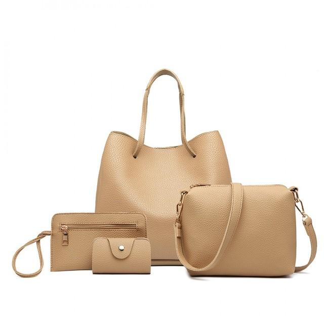 Set kabeliek - eko kožený s peňaženkou, béžový