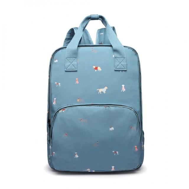 Ruksak - so psíkmi do školy látkový, modrý