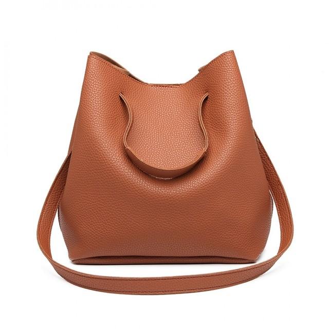 Set kabeliek - eko kožený s peňaženkou, hnedý
