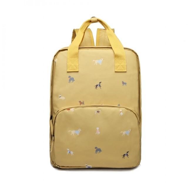 Ruksak - so psíkmi do školy látkový, žltý