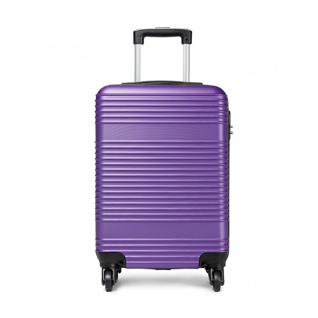 Kufor - praktický na cesty svetom plastový, fialový