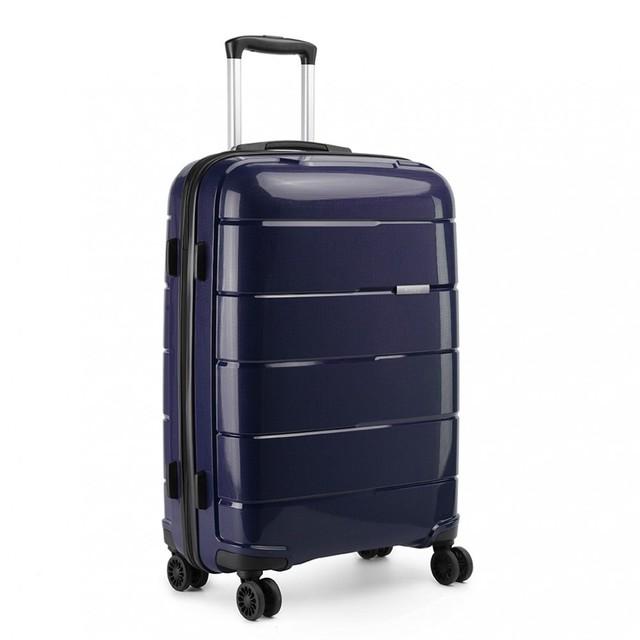 Kufor - cestovný KONO unisex PP lesklý veľký, tmavomodrý