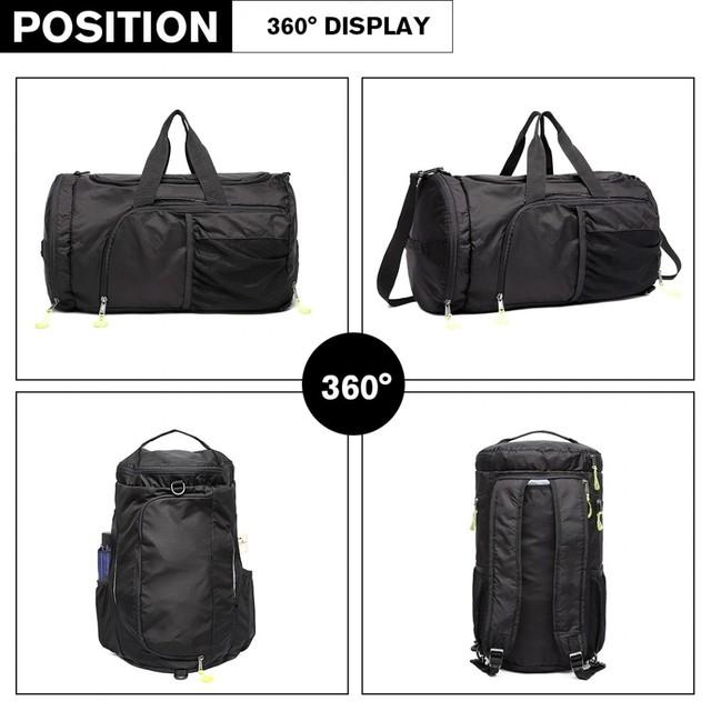 Taška - unisex v kombinácii s batohom, čierna