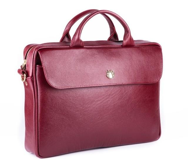 Taška - Sorrento kožená dámska do práce, burgundy
