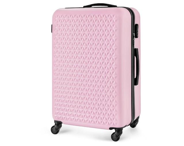 Kufor - vzorovaný Solier na cestovanie malý, ružový