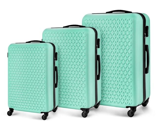 Set kufrov - na cestovanie rodinný Solier set, zelený