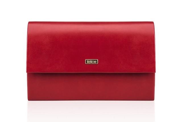 Kabelka - matná do spoločnosti Felice, červená
