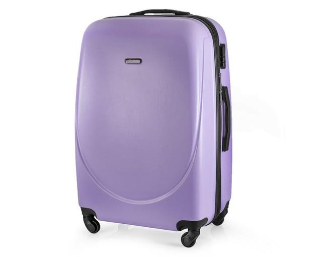Kufor - pastelový veľký na cestovanie Solier, fialový
