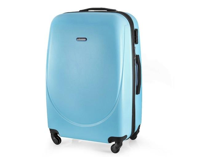 Kufor - pastelový veľký na cestovanie Solier, modrý