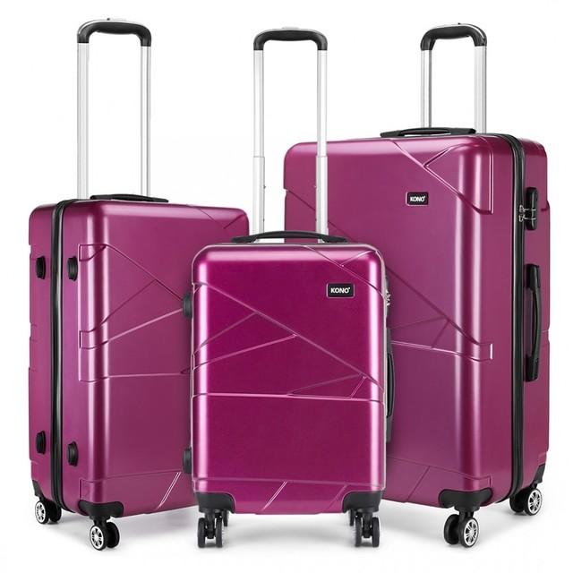 Set kufrov - KONO matný s doplnkami, fialový