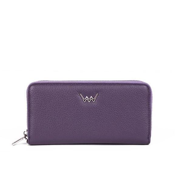Peňaženka - Natalia, kožená na zips, fialová