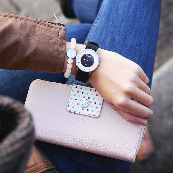 Peňaženka - Britney bird, dots s bodkami, ružová