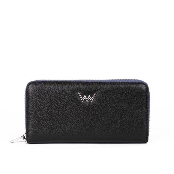Peňaženka - Celia, kožená na zips, čierna