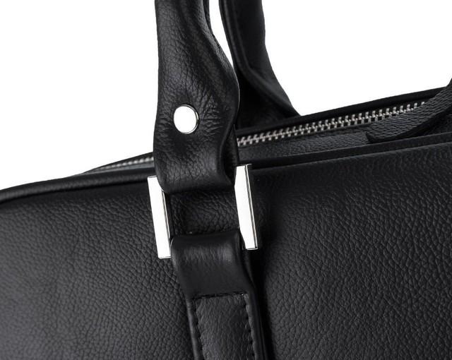 Taška - Solier kožená pánska do práce, čierna