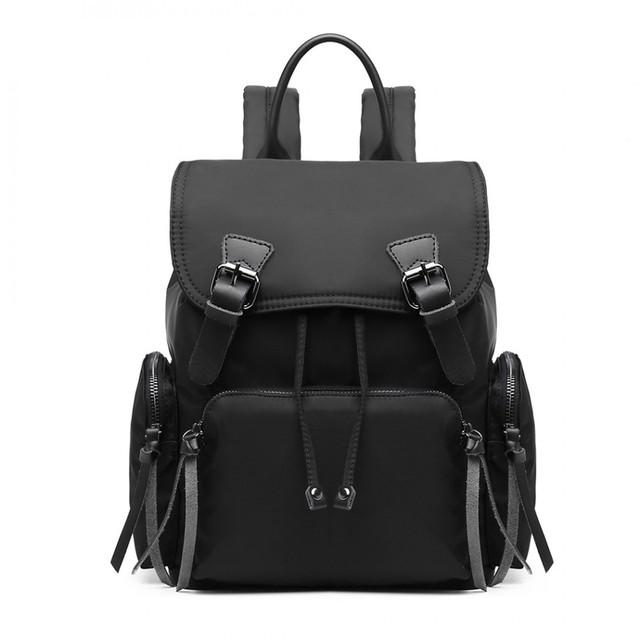 Batoh - satchel nylonový štýlový, čierny