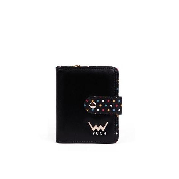 Peňaženka - Nina, black dots malá, čierna