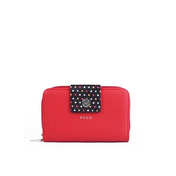 Peňaženka - Zilee zephie, black dots malá, červená