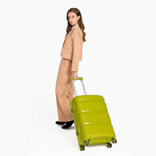 Set kufrov - KONO pastelový praktický na cesty, zelený
