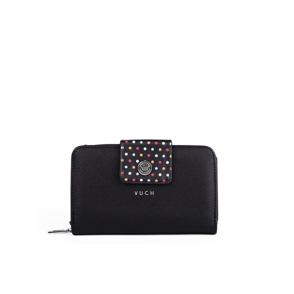 Peňaženka - Tali tammy, black dots malá, čierna