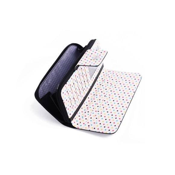 Peňaženka - Honor harmone, dots s bodkami, čierna