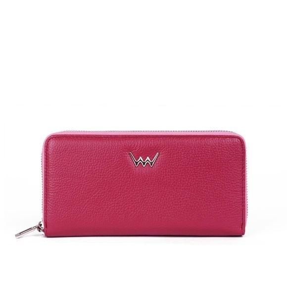 Peňaženka - Adele, kožená na zips, ružová