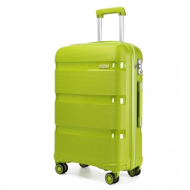 Kufor - KONO pastelový veľký na cesty, zelený
