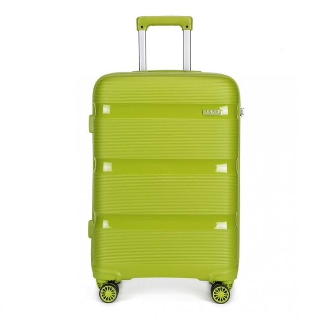Kufor - KONO pastelový stredný na cesty, zelený