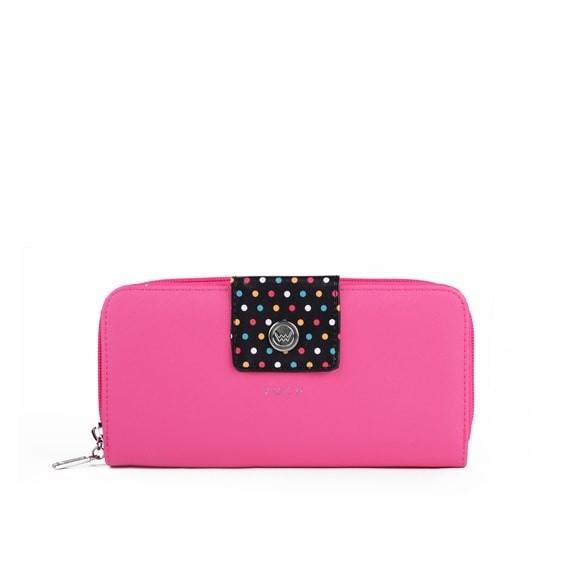 Peňaženka - Whitney watter, black dots, ružová