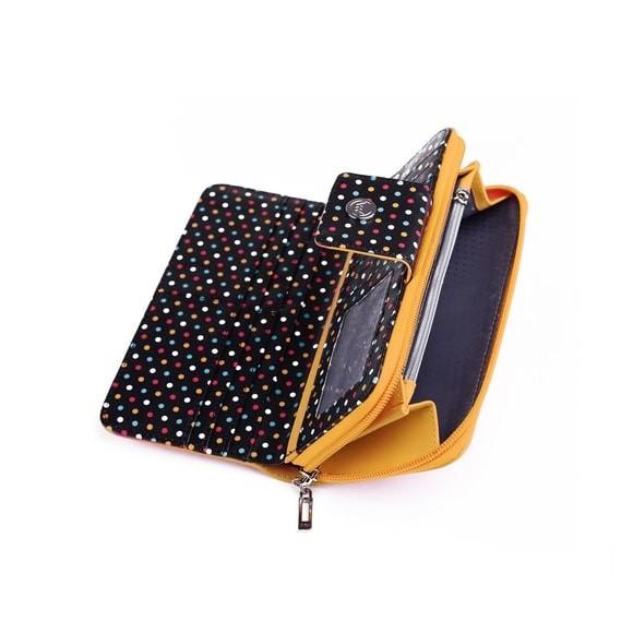 Peňaženka - Zaya, black dots, žltá