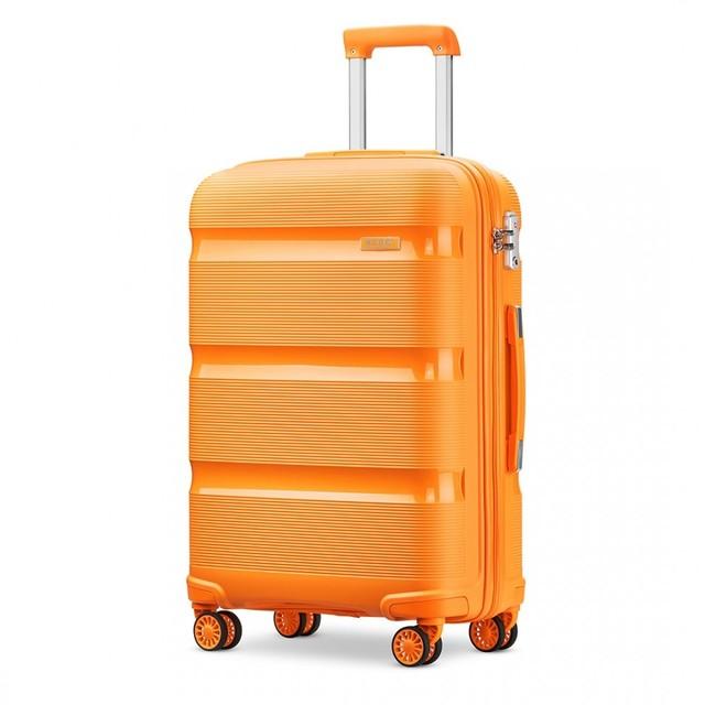 Kufor - KONO pastelový veľký na cesty, oranžový
