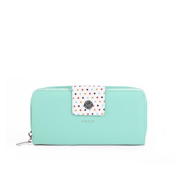 Peňaženka - Billie bluebell, dots s bodkami, tyrkysová