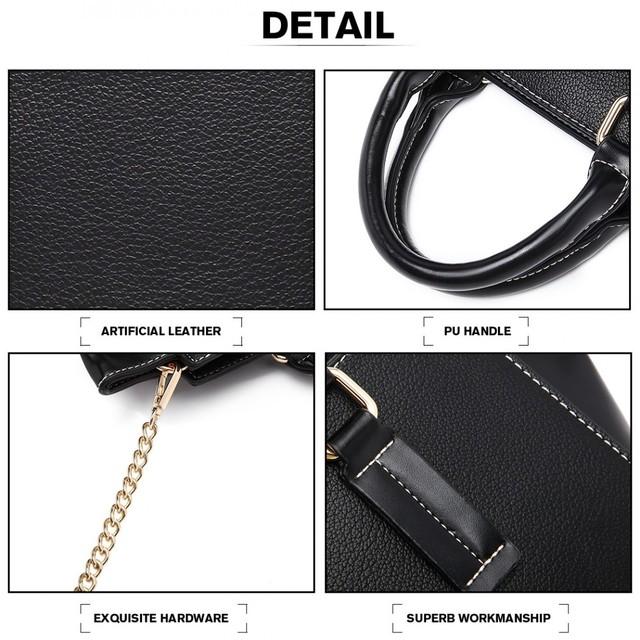 Kabelka - s retiazkou elegantná na zips, čierna