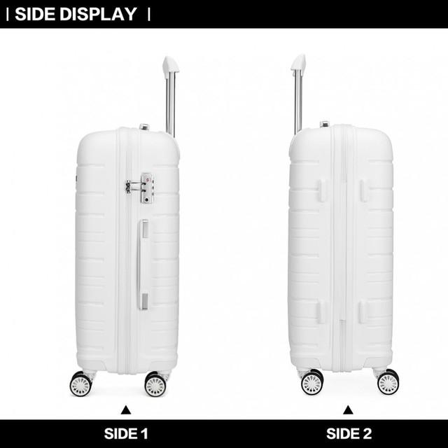 Set kufrov - na cesty praktický KONO unisex, biely