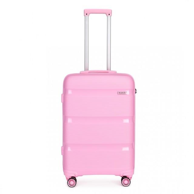 Kufor - KONO pastelový stredný na cesty, ružový