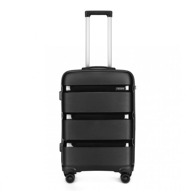 Set kufrov - KONO pastelový praktický na cesty, čierny
