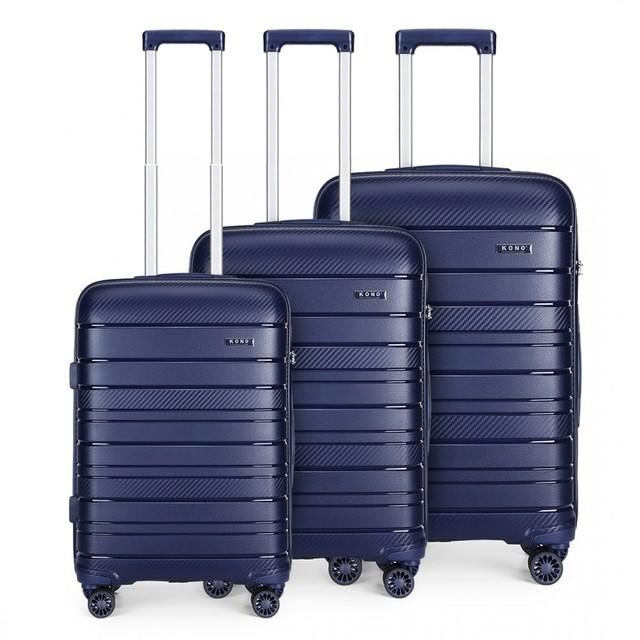 Set kufrov - na cesty praktický KONO unisex, tmavomodrý