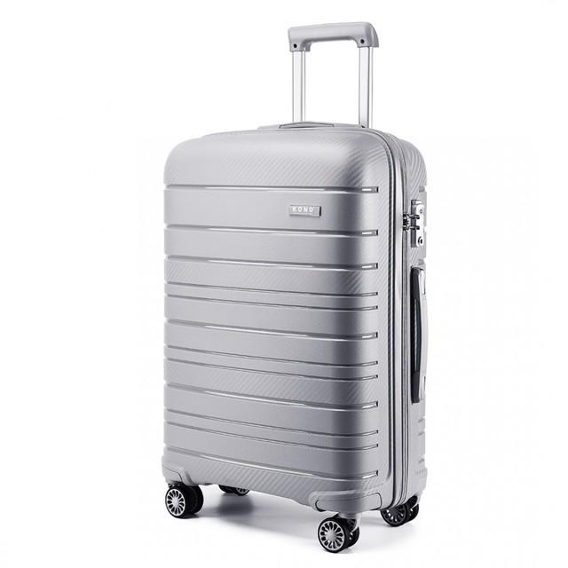 Set kufrov - na cesty praktický KONO unisex, sivý