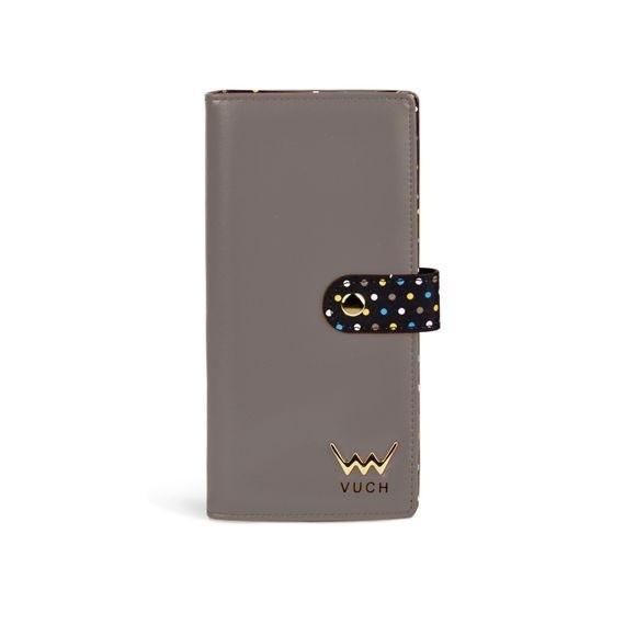 Peňaženka - Destiny, black dots dámska, sivá