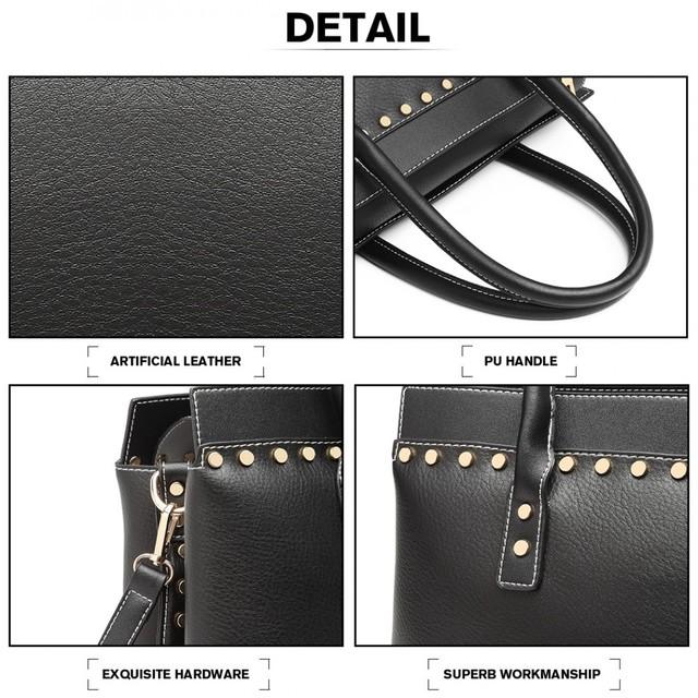Kabelka - elegantná vybíjaná do ruky, čierna