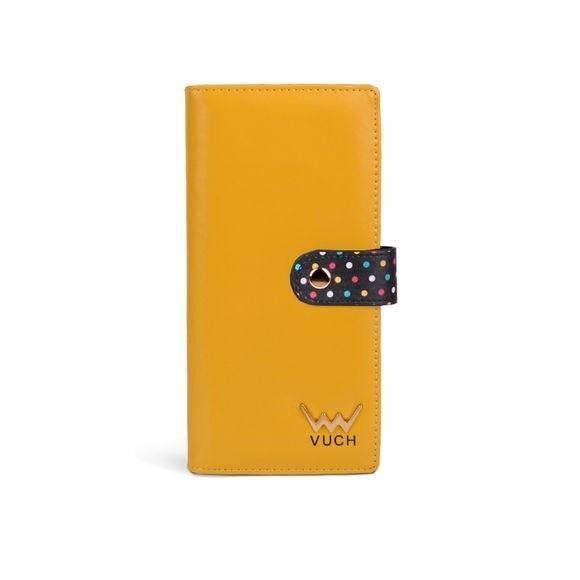 Peňaženka - Katherine, black dots dámska, žltá